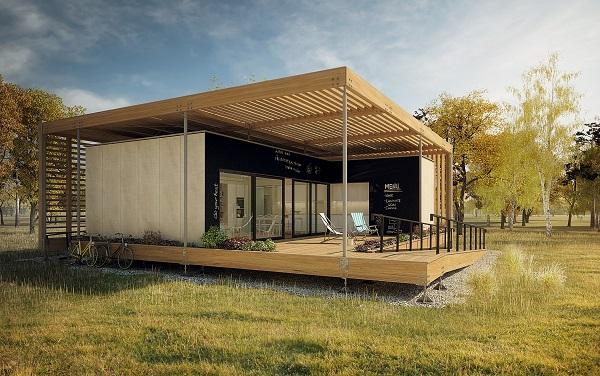 vizualizace domu pro Solar Decathlon