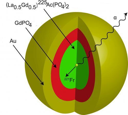 Schéma nanočástice, obr. University of Missouri