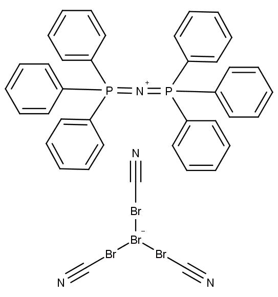 Chemická struktura iontové kapaliny, která rozpouští elementární zlato.