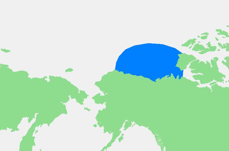 Beaufortova moře leží na sever od Aljašky a Kanady, M.Minderhoud (Own work) [Public domain], via Wikimedia Commons.