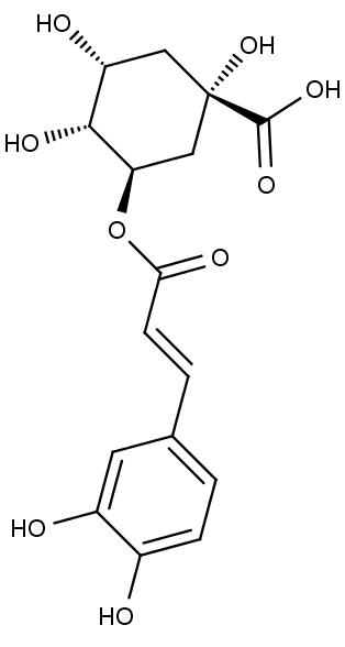 struktura chlorogenové kyseliny