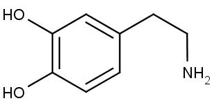 sturktura neurotransmitoru dopaminu