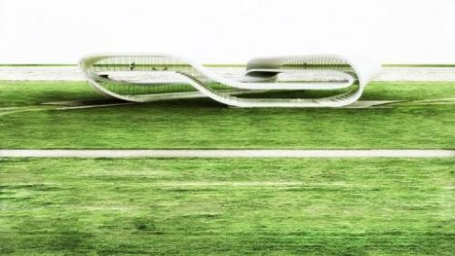 Vizualizace Ruijssenaarsova tištěného domu, obr.Janjaap Ruijssenaars/Universe Architecture