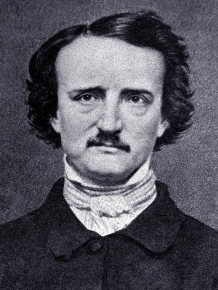 Fotografie E.A.Poea ke konci života, foto Lancaster University.