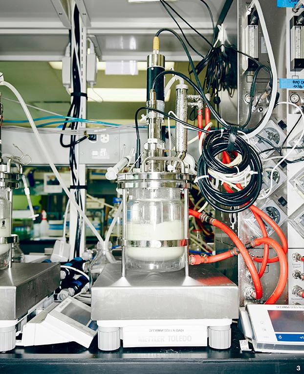 Experimentální kvasná nádoba určená k vývoji nových typů vláken a zvyšování výtěžnosti (foto Bolt Threads).