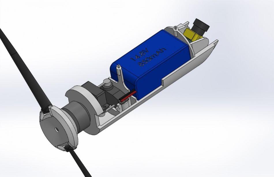 GLUAS v motorové verzi bez krytu, obr. CCDC Army Research Laboratory.