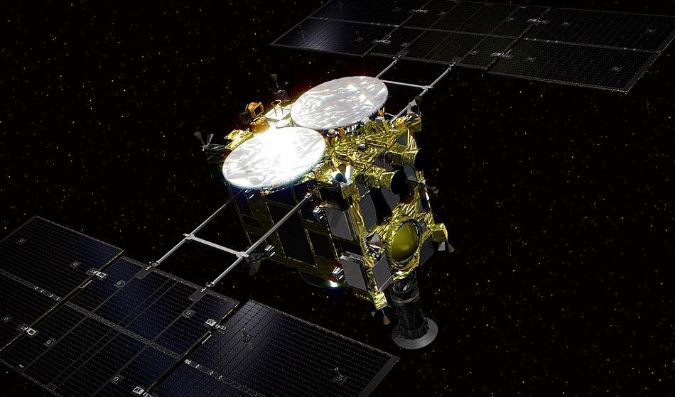 Japonská sonda Hayabusa 2, Go Miyazaki, CC BY-SA 4.0, https://creativecommons.org/licenses/by-sa/4.0.