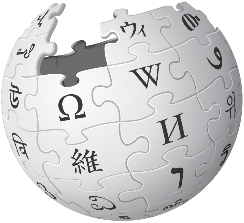 Logo Wikipedie, Version 1 by Nohat (concept by Paullusmagnus); Wikimedia, https://creativecommons.org/licenses/by-sa/3.0/deed.en, CC BY-SA 3.0.