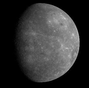 Snímek polokoule Merkuru, která je ze Země obtížně pozorovatelná (foto NASA)