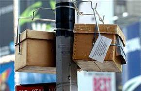 Z takových krabiček unikne v průběhu testu dvakrát denně sledovaný plyn. Tyto se nacházejí poblíž Times Square.