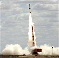 odpálení rakety ve Woomeře (foto BBC)