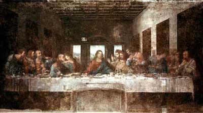 Pravděpodobně nejznámější freska – Poslední večere od Leonarda da Vinci.