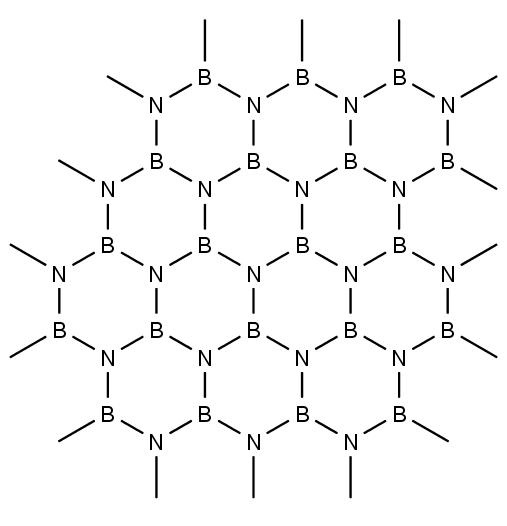 struktura nitridu boritého NB