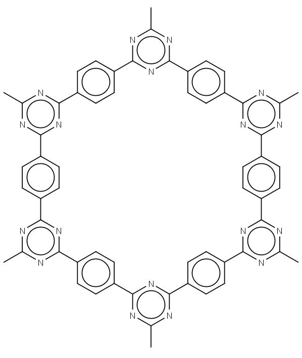 Struktura dutiny v elektrodovém polyaromatickém materiálu, do které vstoupí sodný kation.