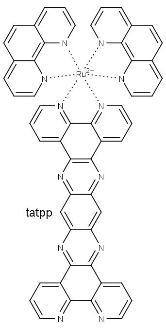 kation bis(dipyridyl)) 9,11,20,22-tetra-aza-tetrapyridopentacen) ruthenatý
