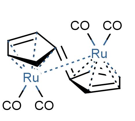 struktura diruthenium pentafulvalenu