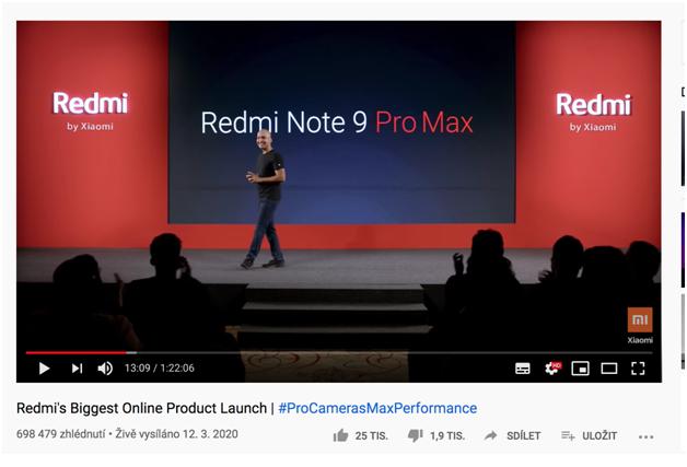 Xiaomi Redmi note 9 byl představený přes internet.